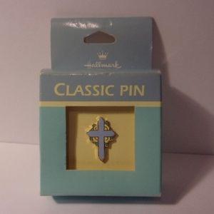 Vintage Hallmark Classic Easter Cross Pin 1980s